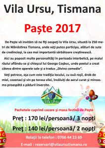 Paste Vila ursu 2017