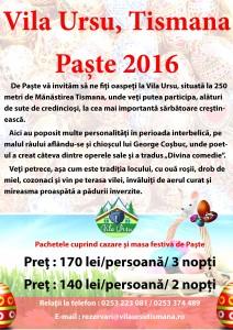 Paste Vila ursu 2016